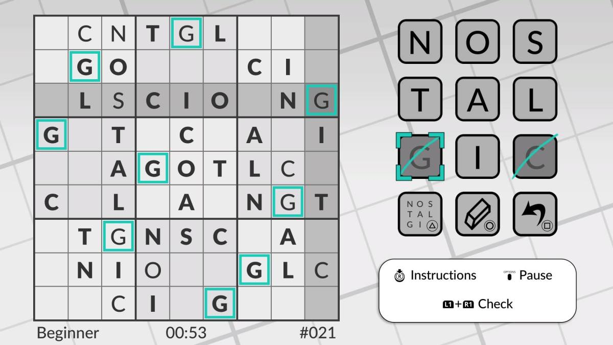 Word Sudoku by POWGI review (Vita)