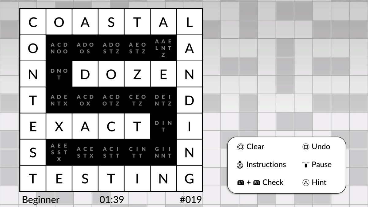 Wordsweeper by POWGI review (Vita)